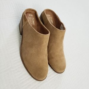 Toms - Leila, toffee suede mules
